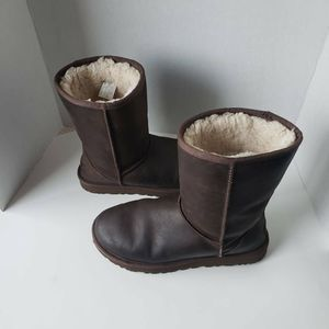 UGG Australia Womens Boots Brown Faux Fur 9